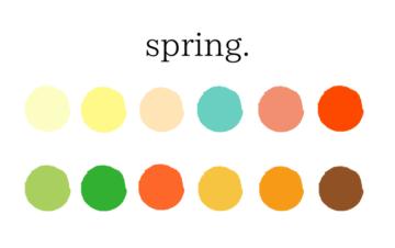 パーソナルカラー診断スプリングタイプのカラー